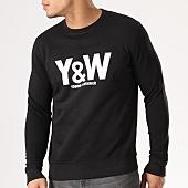 /achat-sweats-col-rond-crewneck/y-et-w-sweat-crewneck-classic-logo-noir-40800.html