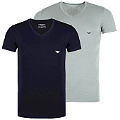 /achat-t-shirts/lot-de-2-tee-shirts-emporio-armani-v-neck-gris-bleu-marine-49366.html