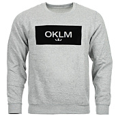 /achat-sweats-col-rond-crewneck/oklm-sweat-crewneck-small-crown-gris-typo-noir-63533.html