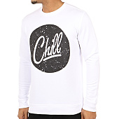 /achat-sweats-col-rond-crewneck/luxury-lovers-sweat-crewneck-circle-chill-speckle-blanc-63904.html