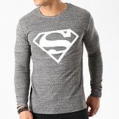 /achat-t-shirts-manches-longues/superman-tee-shirt-manches-longues-logo-gris-zebra-85699.html