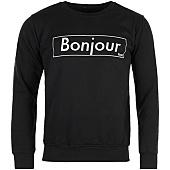 /achat-sweats-col-rond-crewneck/nqnt-sweat-crewneck-bonjour-outline-noir-87085.html