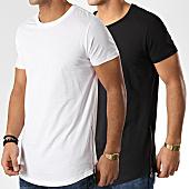 /achat-t-shirts-longs-oversize/lbo-lot-de-2-tee-shirts-oversize-zip-74-noir-et-blanc-91491.html