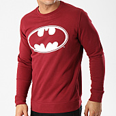 /achat-sweats-col-rond-crewneck/batman-sweat-crewneck-logo-bordeaux-blanc-92491.html