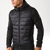 /achat-vestes/crossby-veste-zippee-capuche-paz-noir-97141.html