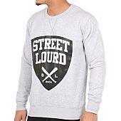 /achat-sweats-col-rond-crewneck/street-lourd-sweat-crewneck-emblem-gris-chine-97898.html