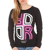 /achat-sweats-capuche/or-sweat-crewneck-femme-reverse-noir-rose-98279.html