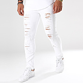 /achat-jeans/john-h-jean-slim-dechire-a1552-blanc-100384.html