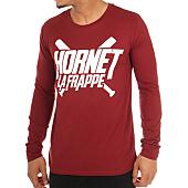 /achat-t-shirts-manches-longues/hornet-la-frappe-tee-shirt-manches-longues-logo-bordeaux-103276.html