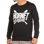 /achat-sweats-col-rond-crewneck/hornet-la-frappe-sweat-crewneck-logo-noir-103288.html