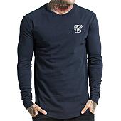 /achat-t-shirts-longs-oversize/siksilk-tee-shirt-manches-longues-oversize-gym-bleu-marine-103437.html