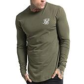/achat-t-shirts-manches-longues/siksilk-tee-shirt-manches-longues-oversize-gym-11223-vert-kaki-103448.html