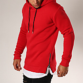 /achat-sweats-capuche/lbo-sweat-capuche-oversize-zip-201-rouge-103580.html