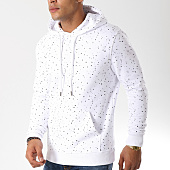 /achat-sweats-capuche/lbo-sweat-capuche-224-speckle-blanc-104447.html