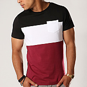 /achat-t-shirts-poche/lbo-tee-shirt-poche-210-noir-blanc-bordeaux-104448.html