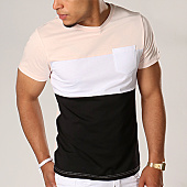 /achat-t-shirts-poche/lbo-tee-shirt-poche-211-rose-pale-blanc-noir-104449.html
