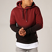 /achat-sweats-capuche/lbo-sweat-capuche-223-bordeaux-degrade-noir-104451.html