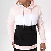 /achat-sweats-capuche/lbo-sweat-capuche-214-rose-pale-blanc-noir-104790.html