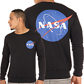 /achat-sweats-col-rond-crewneck/nasa-sweat-crewneck-insignia-noir-105627.html