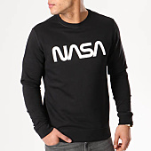 /achat-sweats-col-rond-crewneck/nasa-sweat-crewneck-worm-logo-noir-105629.html