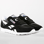 /achat-baskets-basses/reebok-baskets-femme-classic-nylon-6606-black-white-106048.html