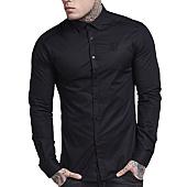 /achat-chemises-manches-longues/siksilk-chemise-manches-longues-coton-stretch-10169-noir-108980.html