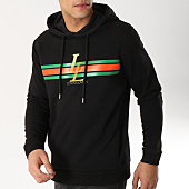 /achat-sweats-capuche/luxury-lovers-sweat-capuche-stripes-noir-109149.html