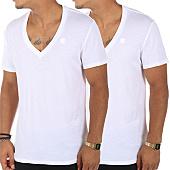 /achat-t-shirts/g-star-lot-de-2-tee-shirts-v-neck-d07203-2757-blanc-110905.html