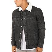 /achat-vestes-jean/urban-classics-veste-jean-col-mouton-tb1796-noir-111271.html