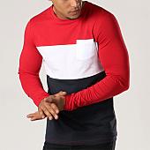 /achat-t-shirts-manches-longues/lbo-tee-shirt-manches-longues-287-bleu-marine-blanc-rouge-112259.html