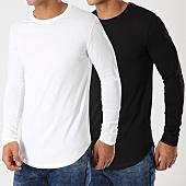 /achat-t-shirts-manches-longues/lbo-lot-de-2-tee-shirts-oversize-manches-longues-unis-340-noir-et-blanc-119180.html