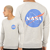 /achat-sweats-col-rond-crewneck/nasa-sweat-crewneck-insignia-gris-chine-119687.html