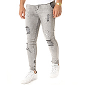 /achat-jeans/siksilk-jean-skinny-riot-low-rise-gris-119831.html