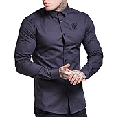 /achat-chemises-manches-longues/siksilk-chemise-manches-longues-fitted-stretch-10170-gris-anthracite-119833.html