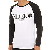 /achat-t-shirts-manches-longues/ndeko-tee-shirt-manches-longues-raglan-typo-blanc-noir-121117.html