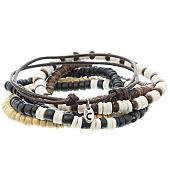 /achat-bracelets/icon-brand-lot-de-6-bracelets-woodstock-marron-beige-noir-121861.html