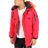 /achat-parkas/geographical-norway-parka-fourrure-poche-bomber-barely-rouge-123089.html