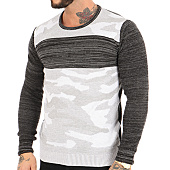 /achat-pulls/john-h-pull-3179-noir-gris-clair-camouflage-123039.html