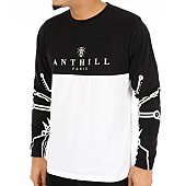 /achat-t-shirts-manches-longues/anthill-tee-shirt-manches-longues-half-noir-blanc-123771.html