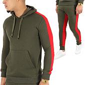 /achat-ensembles-survetement/john-h-ensemble-de-survetement-avec-bande-526-527-vert-kaki-rouge-123858.html