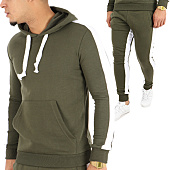 /achat-ensembles-survetement/john-h-ensemble-de-survetement-avec-bande-526-527-vert-kaki-blanc-123867.html