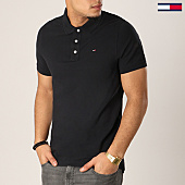 /achat-polos-manches-courtes/tommy-hilfiger-jeans-polo-manches-courtes-original-4266-noir-125131.html