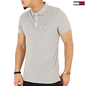/achat-polos-manches-courtes/tommy-hilfiger-jeans-polo-manches-courtes-original-4266-gris-chine-125331.html