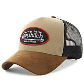 /achat-trucker/von-dutch-casquette-trucker-suede-marron-beige-noir-125447.html