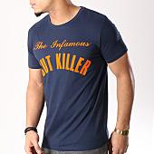 /achat-t-shirts/cut-killer-tee-shirt-the-infamous-bleu-marine-orange-125959.html