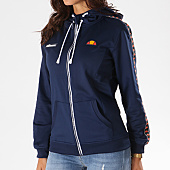 /achat-sweats-zippes-capuche/ellesse-sweat-zippe-capuche-femme-avec-bandes-brodees-sws-bleu-marine-126312.html
