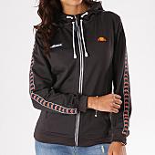 /achat-sweats-zippes-capuche/ellesse-sweat-zippe-capuche-femme-avec-bandes-brodees-sws-gris-anthracite-126313.html