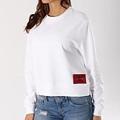 /achat-sweats-col-rond-crewneck/calvin-klein-sweat-crewneck-femme-harrisi-true-icon-blanc-127793.html