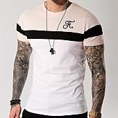 /achat-t-shirts/final-club-tee-shirt-tricolore-avec-broderie-009-blanc-noir-rose-127946.html