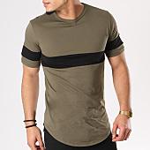 /achat-t-shirts-longs-oversize/frilivin-tee-shirt-oversize-avec-bande-66821-vert-kaki-noir-127755.html
